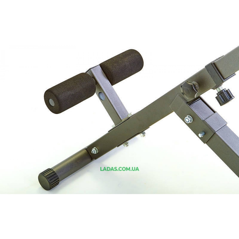 Скамья гиперэкстензия BACK TRAINER (металл, PVC, р-р 100x56x80см)