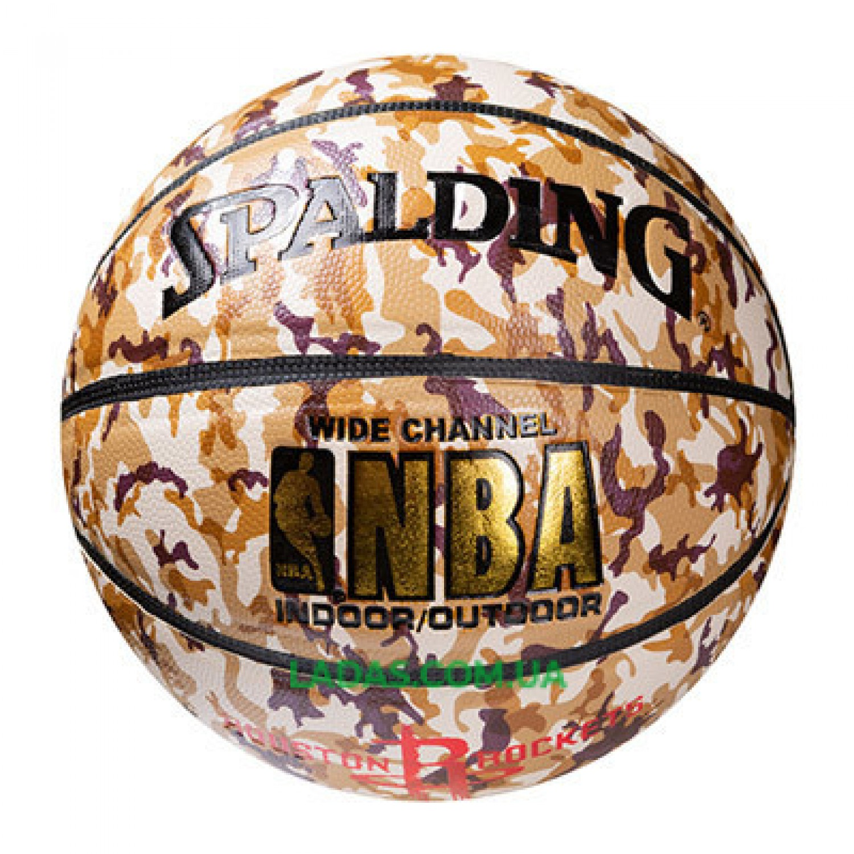 Мяч баскетбольный Spalding №7 PU Houston Rockets
