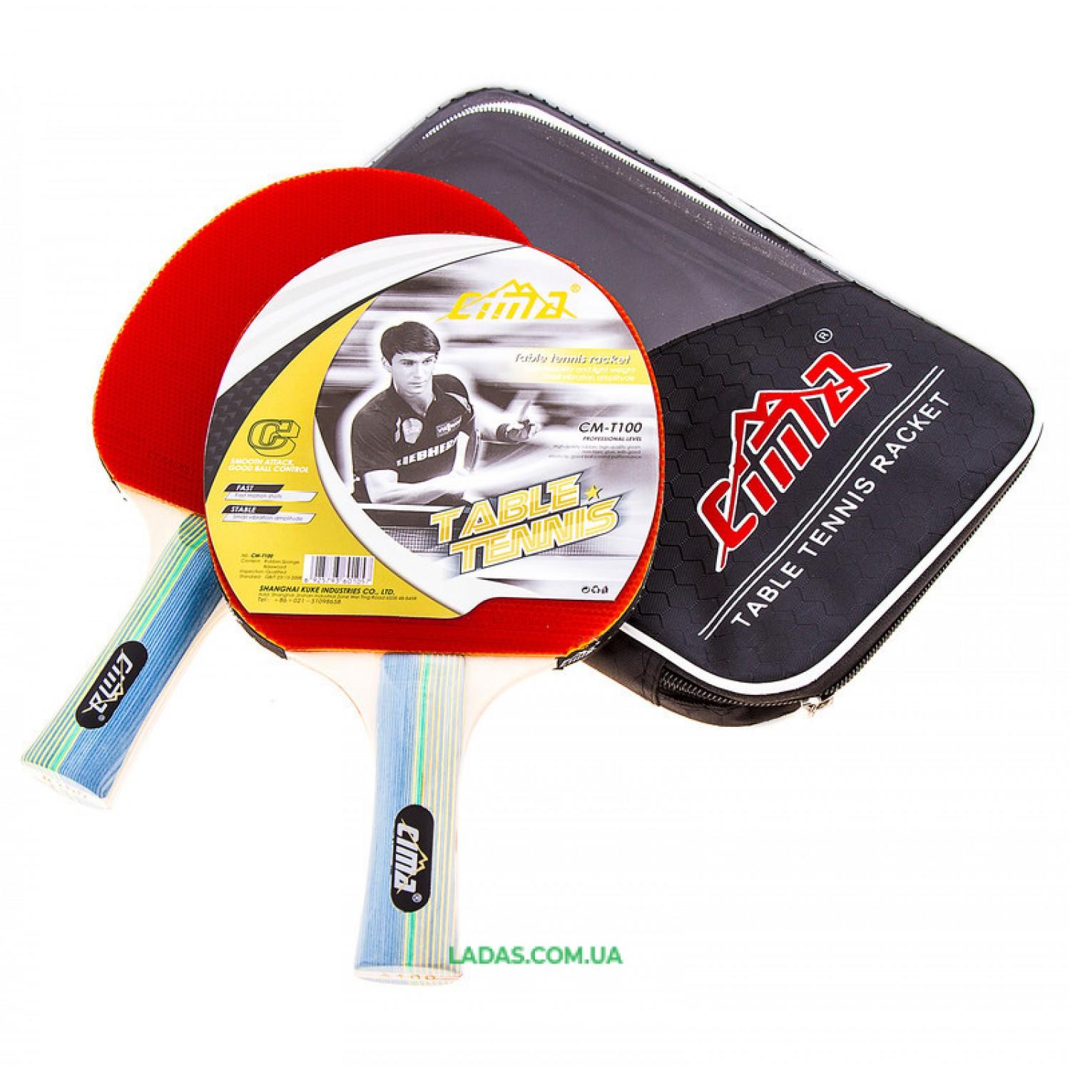 Ракетка для настольного тенниса Cima, 2 шт, 3 шарика