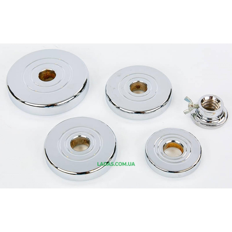 Гантели разборные (2шт) хромированные 25кг (диски с резьбой, 2 грифа l-40см)