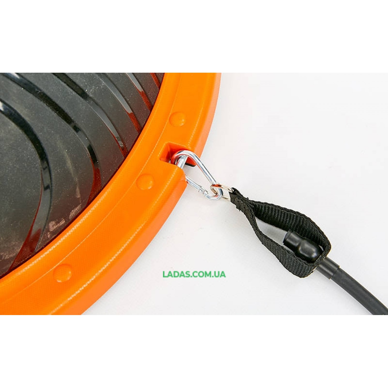 Балансировочная платформа BOSU с двумя эспандерами (пластик, PVC, h-22см, d-60см)