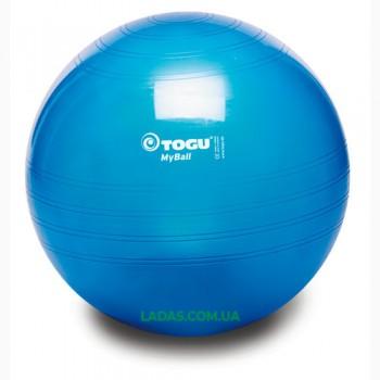Мяч фитнес TOGU 55 см, MyBall, синий (Blue Transparent)