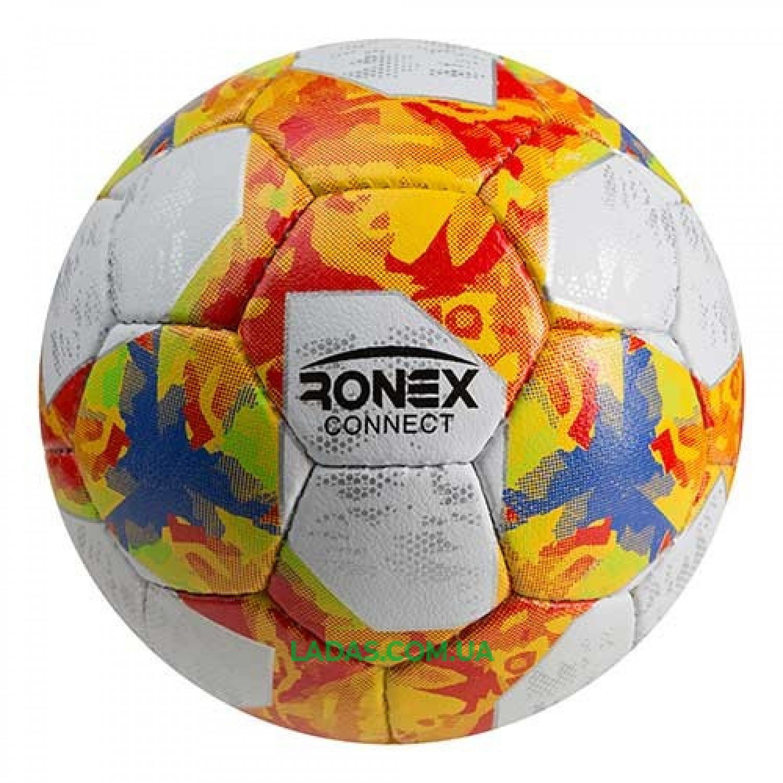 Мяч футбольный Grippy Ronex AD/Connect (№5,сшит вручную)