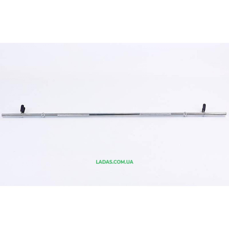 Гриф для штанги Классический прямой (l-1,52м, d-25мм, вес 5,9кг, замок пружинный)