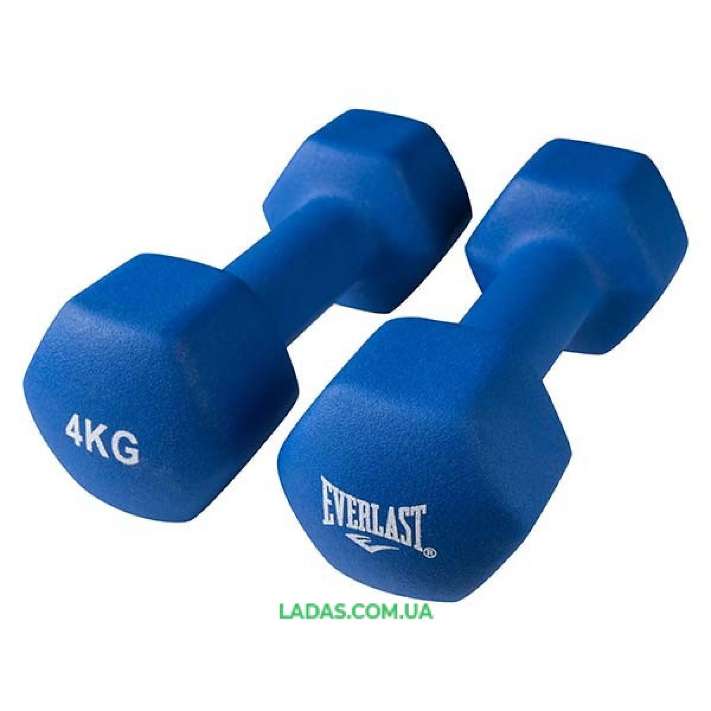 Гантели Everlas, 4 кг х 2 шт, синий