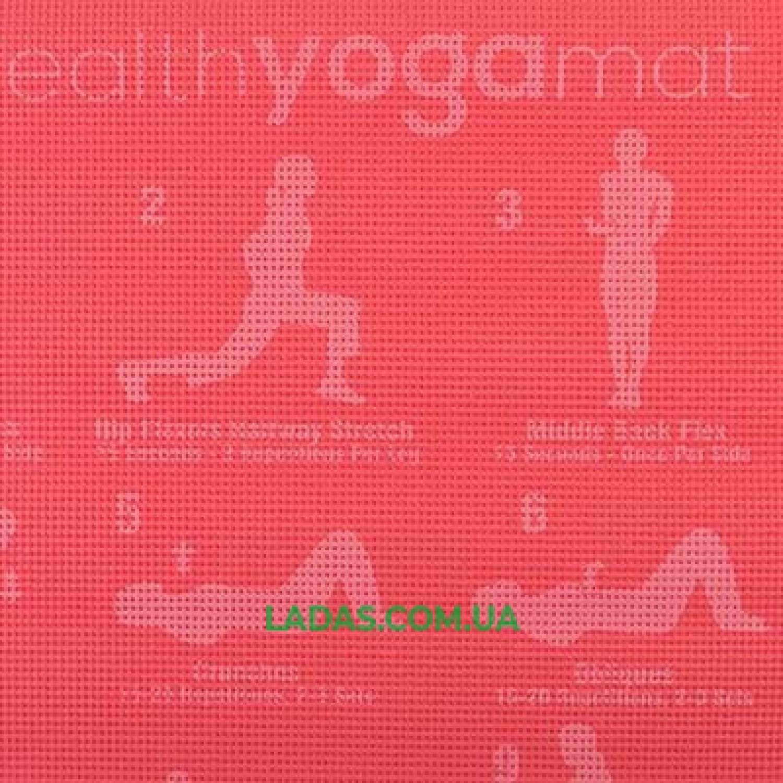 Коврик для фитнеса однослойный с рисунком (173см*61см*6мм, PVC)