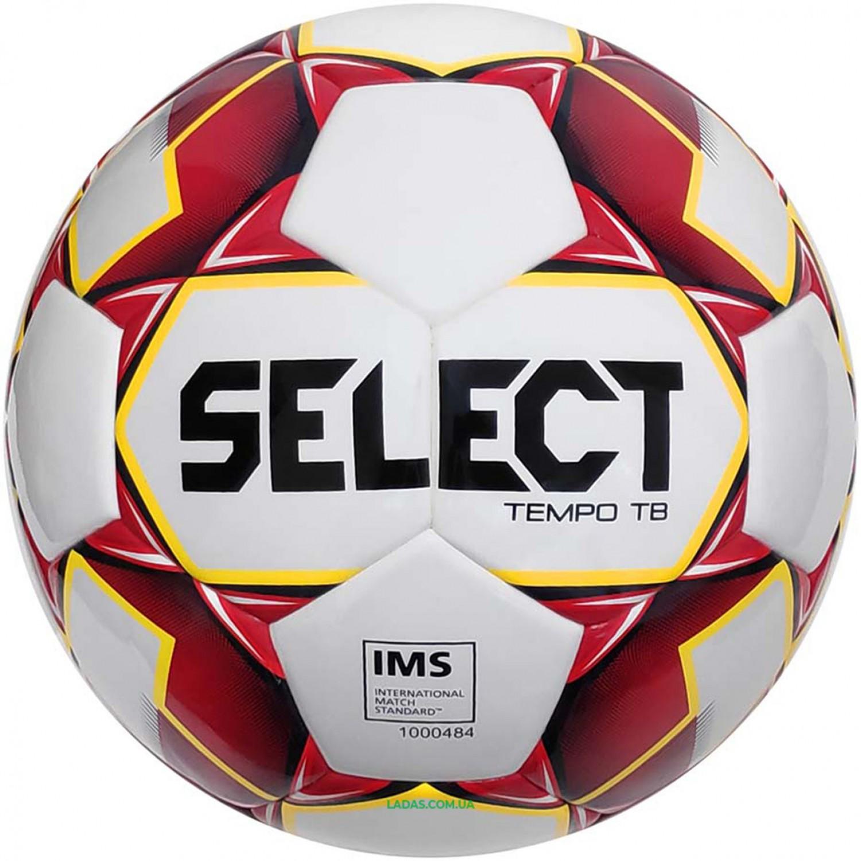 Мяч футбольный №5 SELECT TEMPO IMS (FPUS-T 1600, бело-красный)