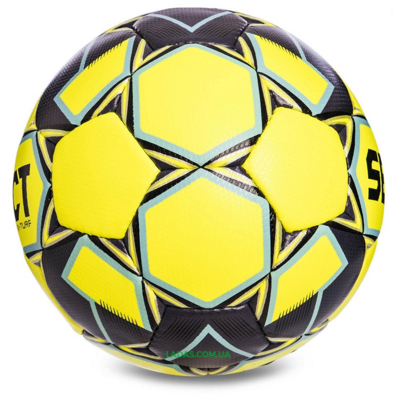 Мяч футбольный №5 SELECT X TURF IMS (FPUG 1300, желто-серый)