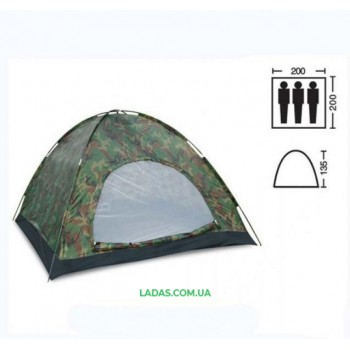 Палатка трехместная однослойная SY-011