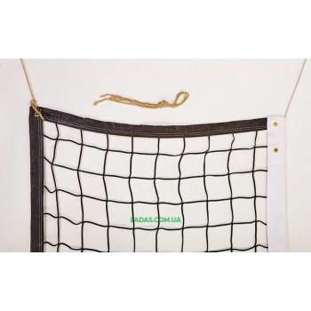 Сетка для волейбола (PL 2,5мм, р-р 9,5x1м, ячейка 12x12см, с метал. тросом)