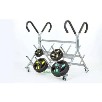 Подставка (стойка) для штанг фитнес памп (металл, р-р 130х116х119cм)