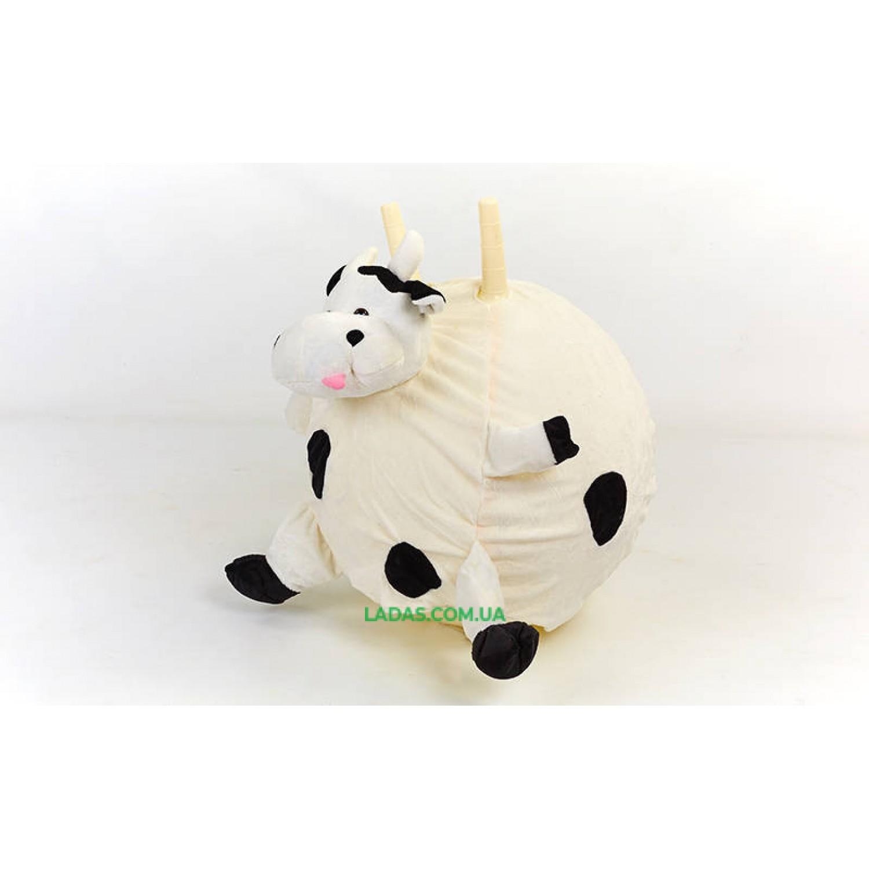Мяч-попрыгун с рожками Корова(диаметр 45см)