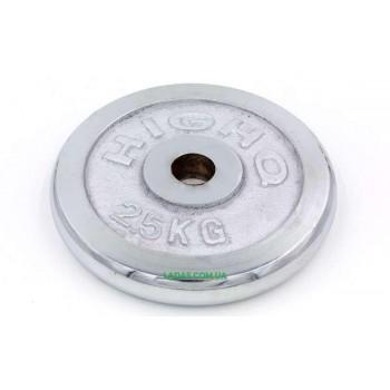 Блины (диски) хромированные d-30мм (1шт*2,5кг)(скидка за пару)