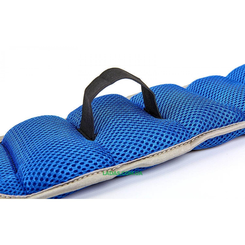 Утяжелители-манжеты для рук и ног (2 x 2кг) (полиэстер, метал.шарики, застежка-молния)