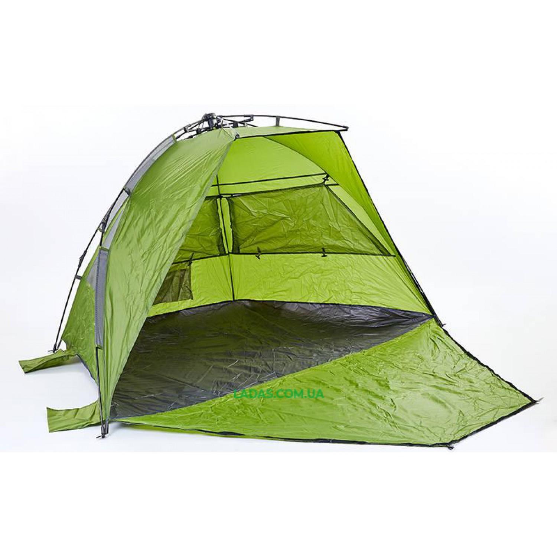 Палатка пляжная автоматическая 3-х местная (р-р 2,25х1,3х1,3м, зеленый)