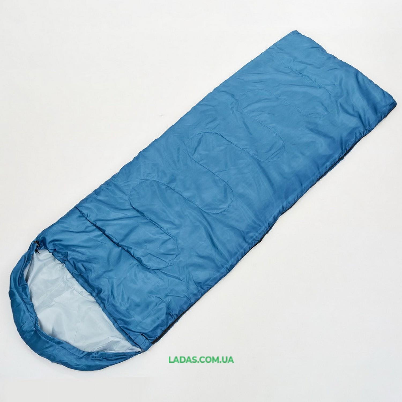 Спальный мешок одеяло с капюшоном TY-0561 (PL,хлопок, 1000г на м2, цвета в ассортименте)