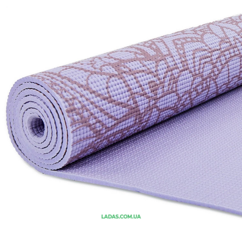 Коврик для йоги и фитнеса PVC двухслойный 6мм (размер 173смx61смx6мм)