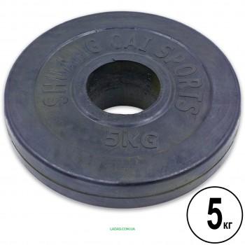 Блины (диски) 5кг обрезиненные d-52мм (1шт*5 кг)