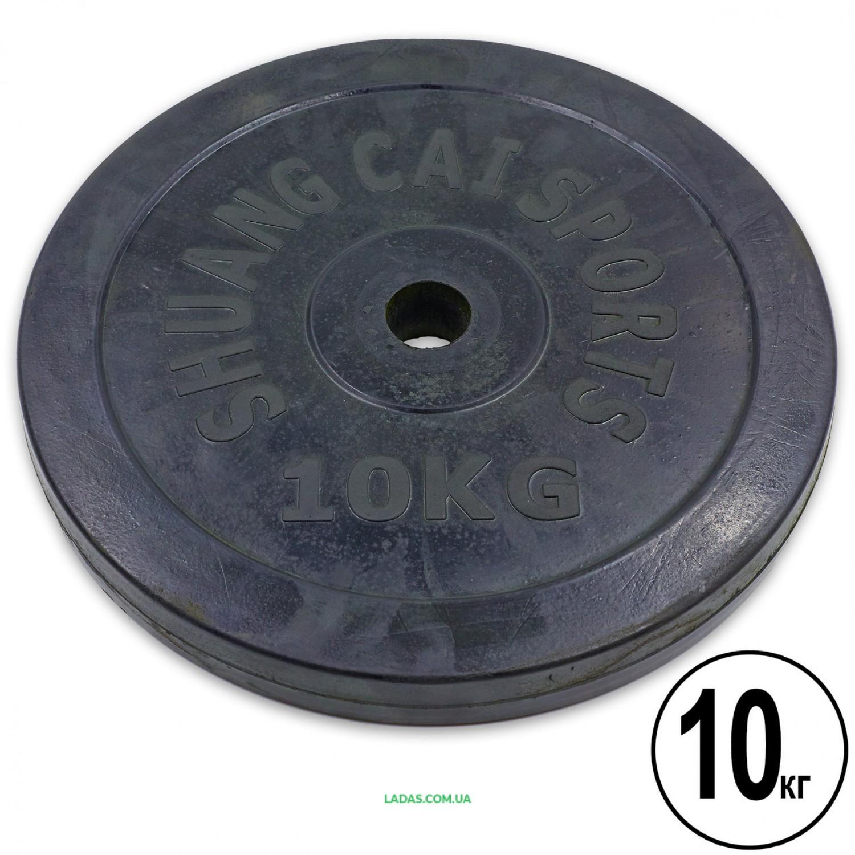 Блины (диски) обрезиненные d-30 мм (1шт*10 кг)