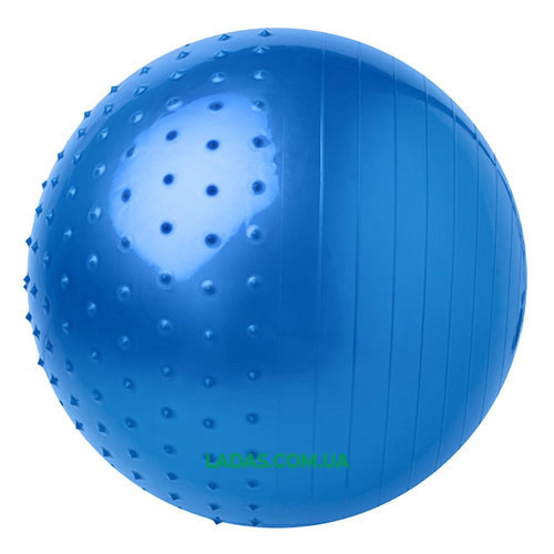 Мяч для фитнеса (фитбол) комби 65см (PVC, 1000г, цвета в ассор,ABS технолог)