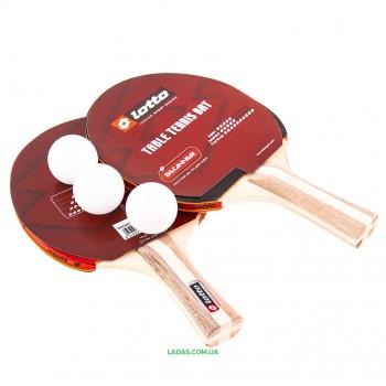 Набор для настольного тенниса 2 ракетки, 3 мяча Lotto Реплика