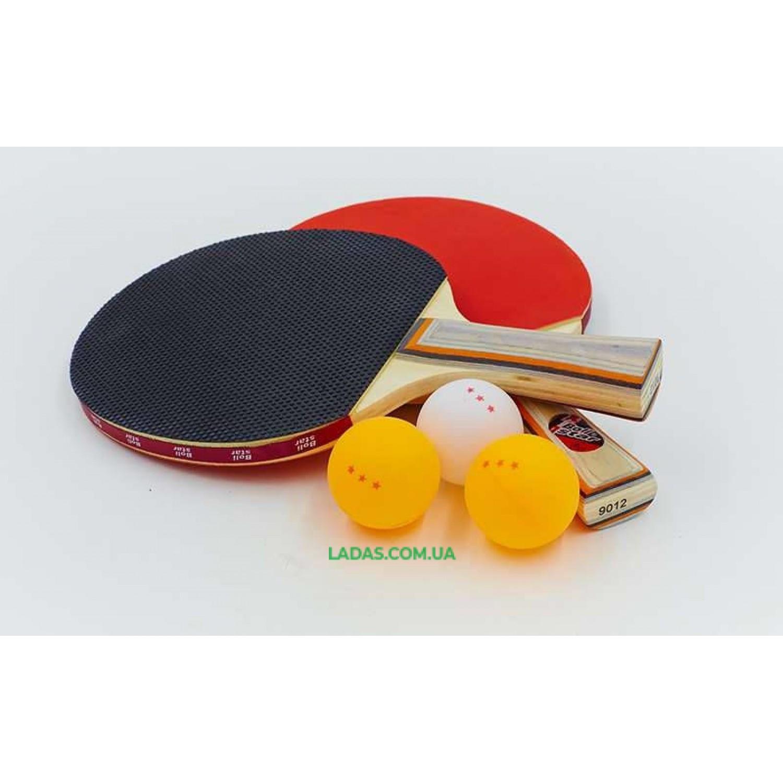 Набор для наст. тенниса Boli prince (2рак+3шар) (древесина, резина, пластик)*
