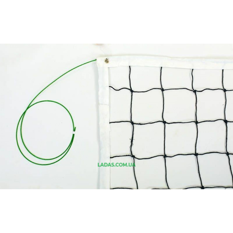 Сетка для волейбола GOLD CUP (хлопок, р-р 9,5x1м, ячейка 12x12см, с метал. тросом)