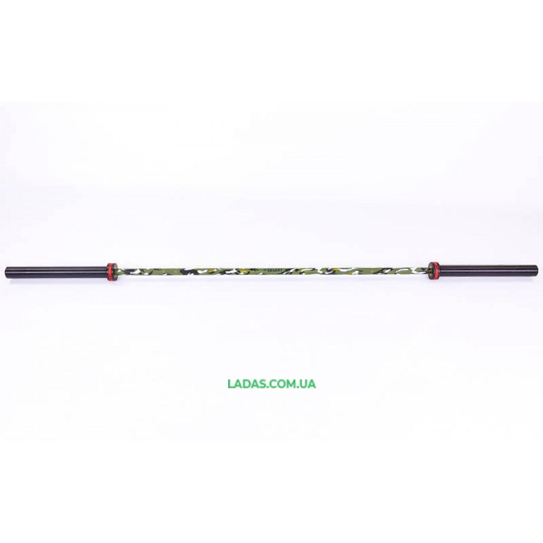 Гриф для штанги Олимпийский профессиональный для Кроссфита TA-7233 (l-2,20м, гр.d-28мм,20кг, нагрузка до 680кг