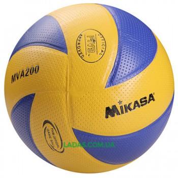 Мяч волейбольный Mikasa MVA200 (PVC, №5, клееный)