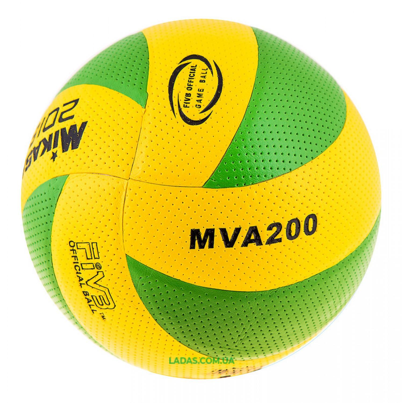 Мяч волейбольный Mikasa MVA200/2018 (PVC, №5, клееный)