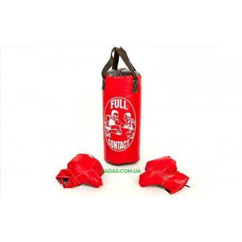 Боксерский набор детский (перчатки+мешок) SP-Planeta BO-4675-M (PVC, размер M, мешок h-42см, d-18см, цвета в а