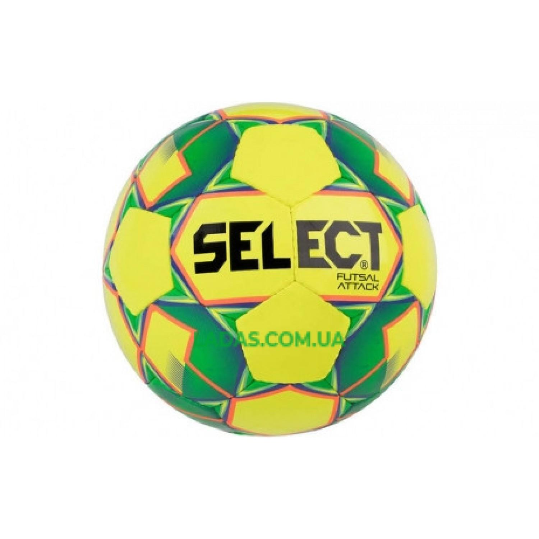 Мяч футзальный №4 SELECT FUTSAL ATTACK (желто-зеленый)