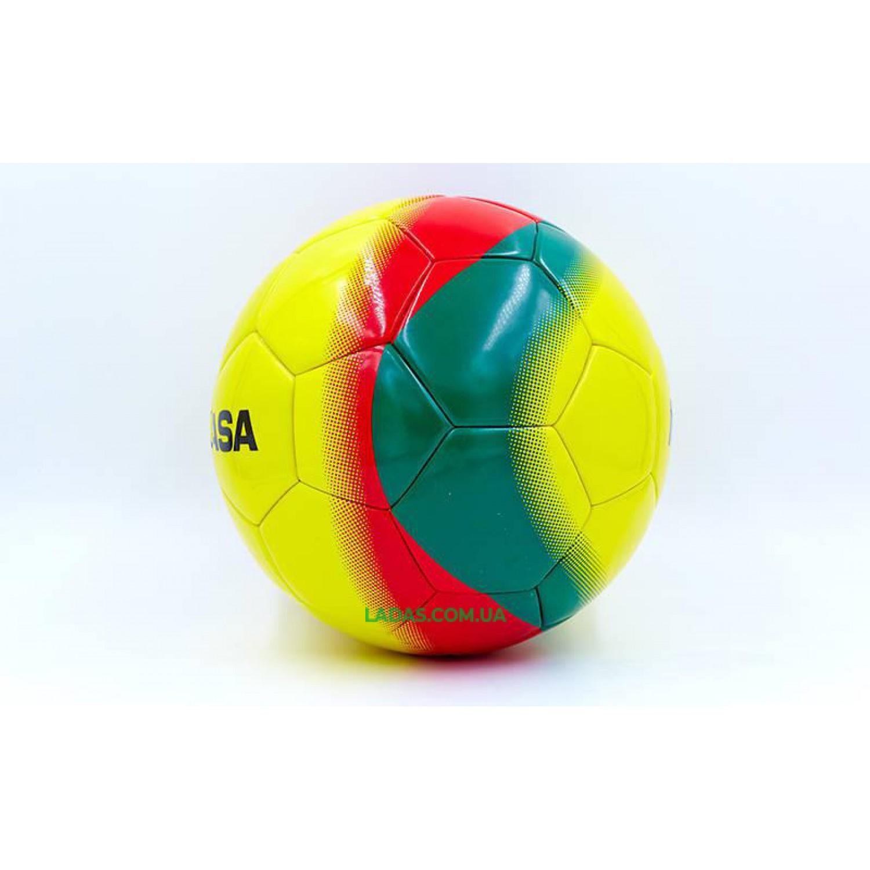 Мяч для футзала №4 PU MIK (желтый, клееный)