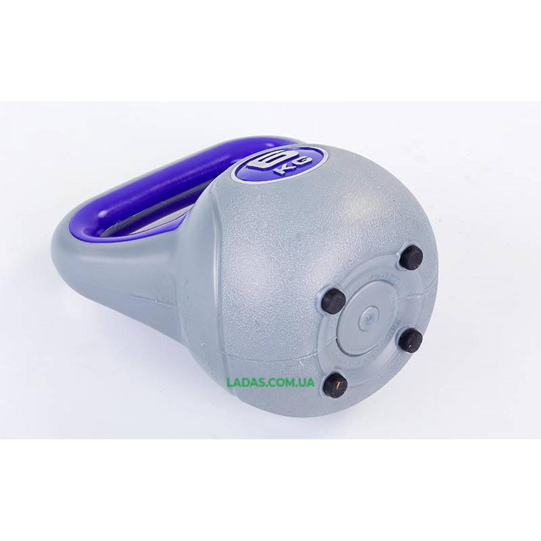 Гиря пластиковая TA-5734- 6 6кг (наполнение цемент)