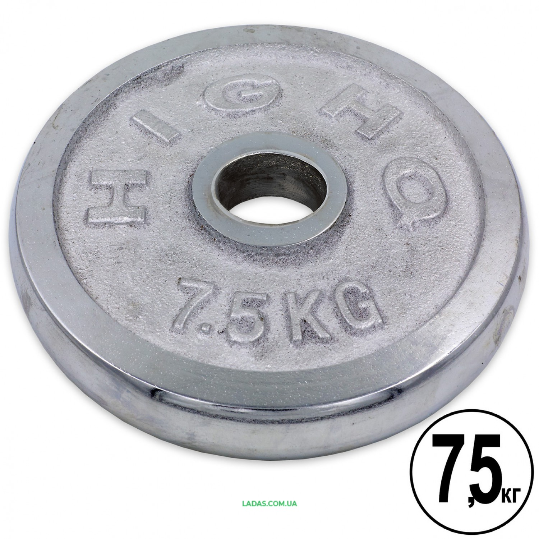 Блины (диски) хромированные d-52мм (1шт*7,5кг)(скидка за пару)