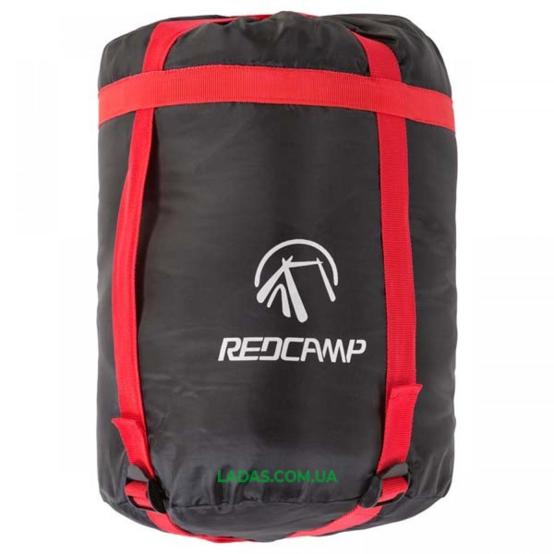 Спальный мешок с капюшоном REDCAMP RC484/3-18BR (PL,400 на м2, цвет синий-серый)