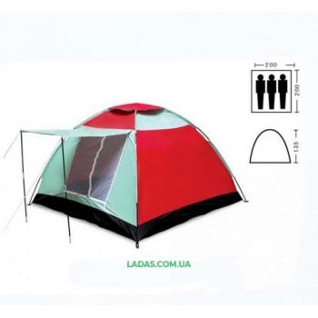 Палатка трехместная однослойная SY-019