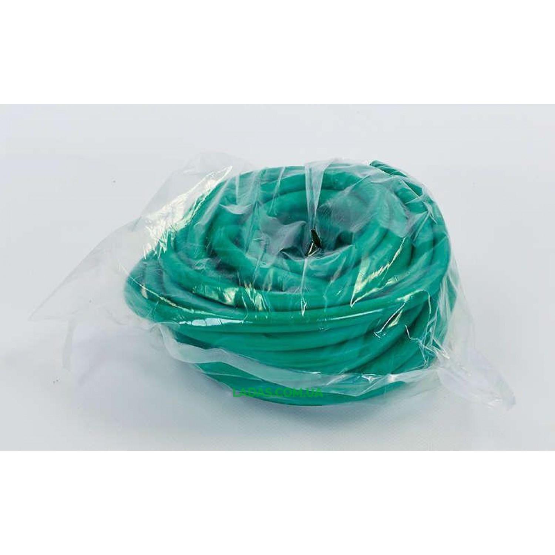 Жгут эластичный трубчатый спортивный (латекс, d-5 x 10мм, l-1000см, зеленый)