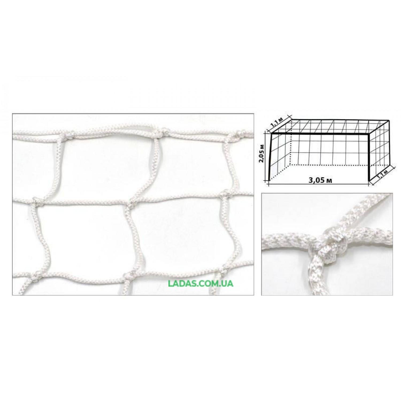 Сетка на ворота футзальная, гандбольная профессиональная (2шт) Элит1.1 UR (PP 4,5мм, ячейка 12см)