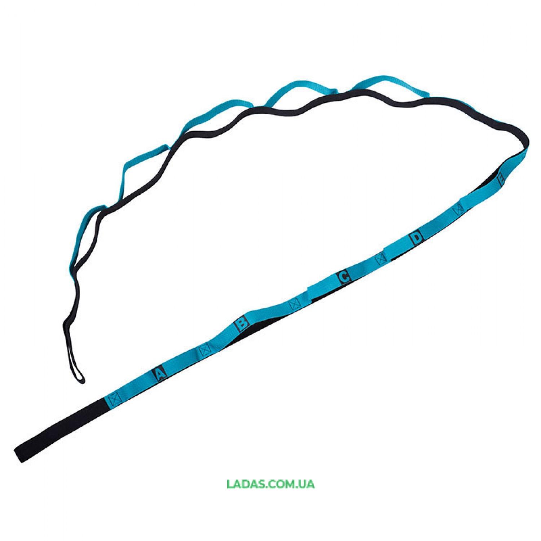 Ленточный эспандер (эластичная лента) для растяжки (235 х 2,5см, 12 петель)