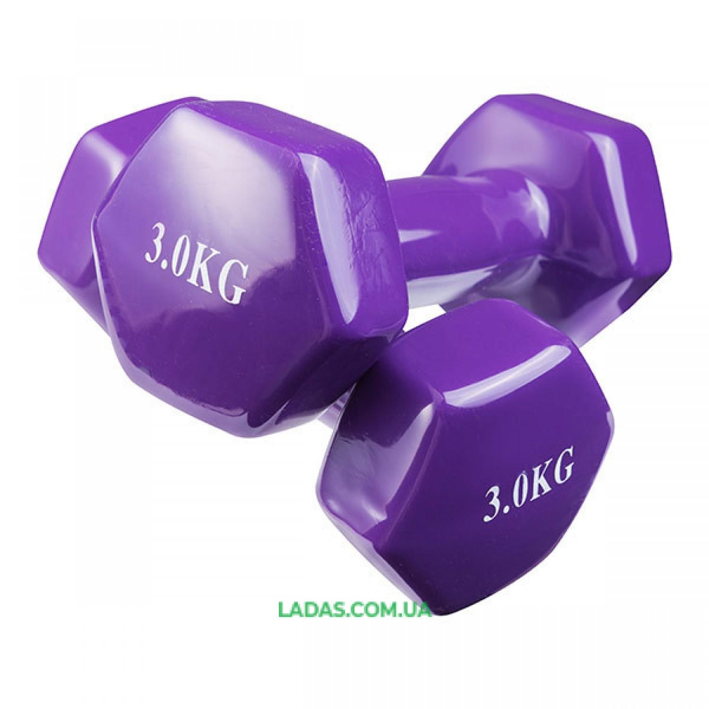 Гантели для фитнеса виниловые (2* 3кг) 80040-V3
