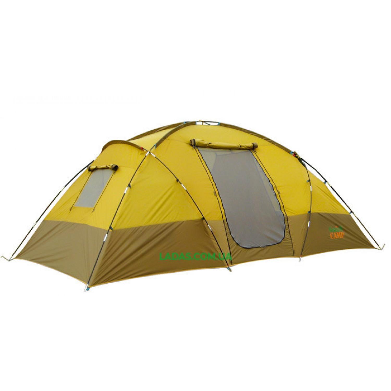 Палатка четырехместная Green Camp 1100 коричневая