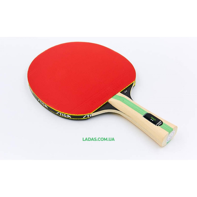 Ракетка для настольного тенниса 1 штука STIGA TRICK 2* Реплика