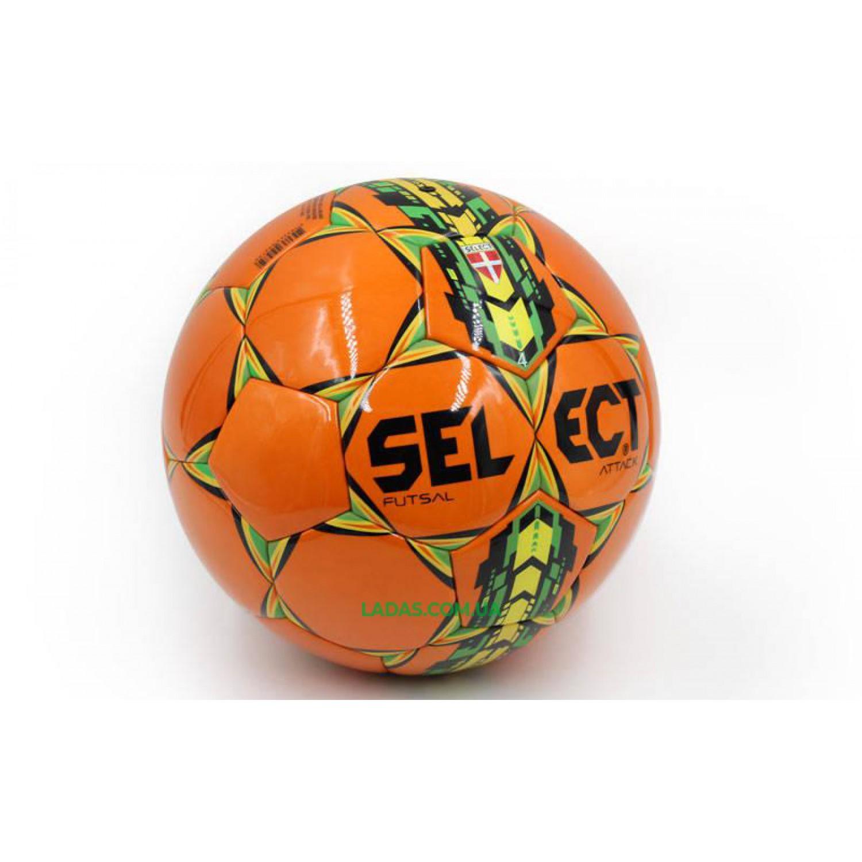 Мяч для футзала №4 PU ST ATTACK (оранжевый, клееный)