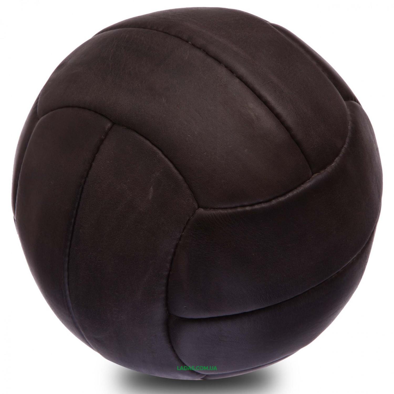 Мяч футбольный №5 Кожа VINTAG F-0251 (№5, 5сл., 12 панелей, сшит вручную)