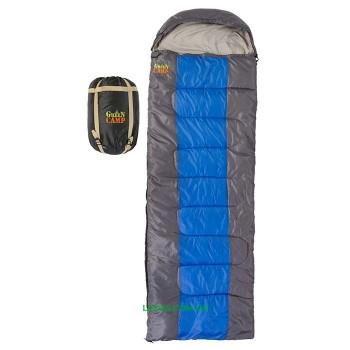 Спальник GreenCamp 450гр/м2 серый-синий GRC1009-BL