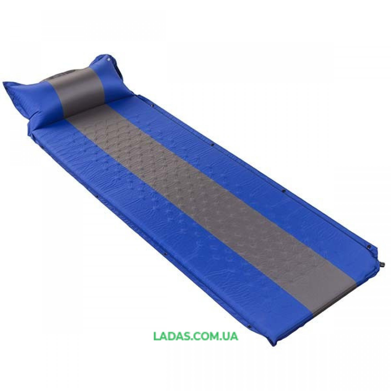 Коврик туристический самонадувной с подушкой (р-р 188*64*3см)