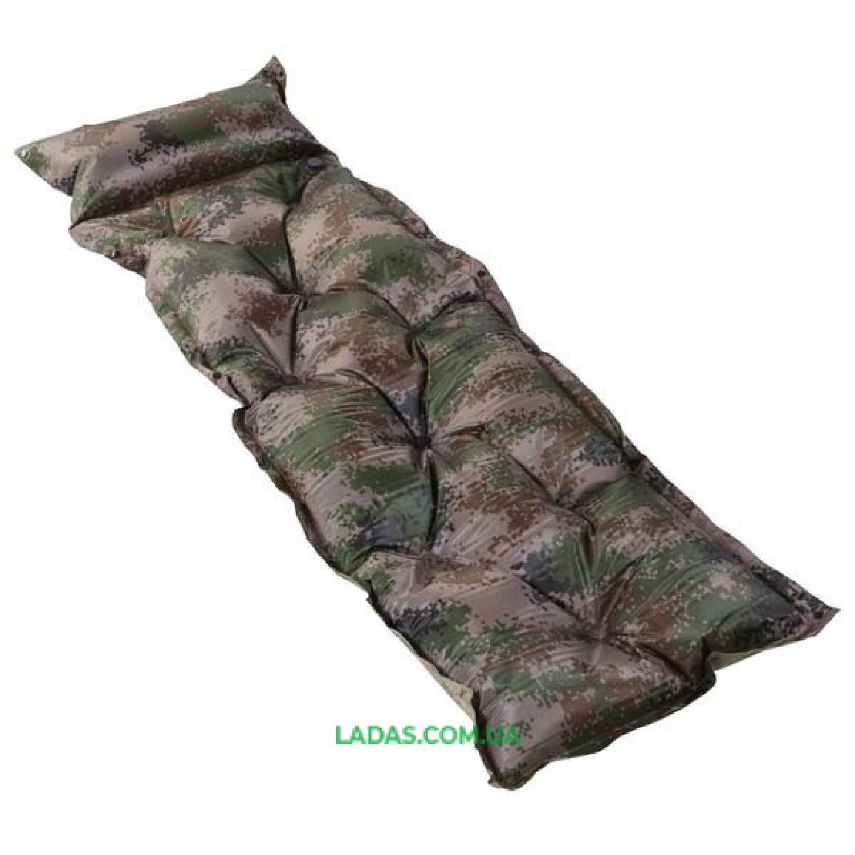 Коврик туристический самонадувной с подушкой (р-р 180*60*3см)