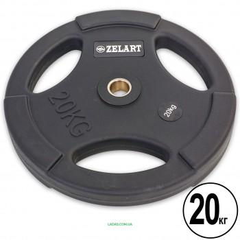Блины (диски) полиуретановые с хватом и металлической втулкой d-28мм (1шт*1,20кг)
