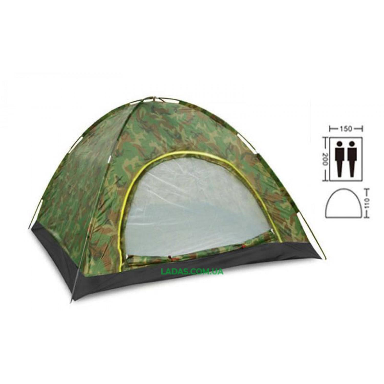 Палатка-автомат двухместная (р-р 2,0х1,5х1,1м)
